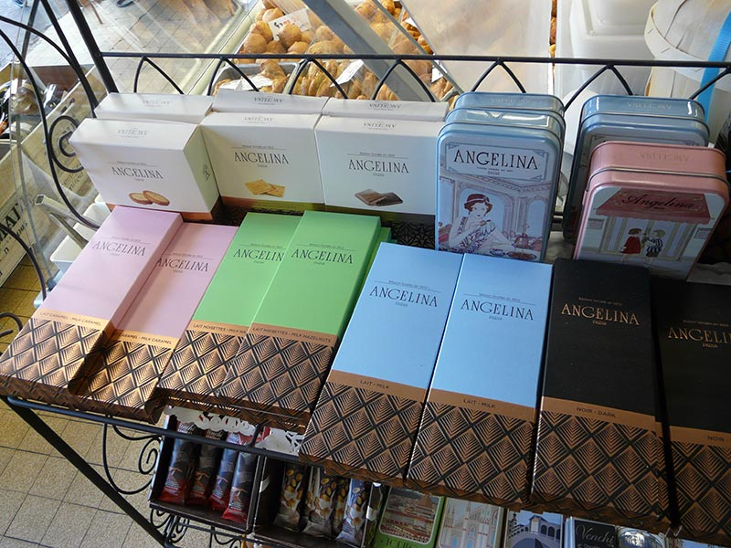 Tablettes de chocolat Angelina Paris